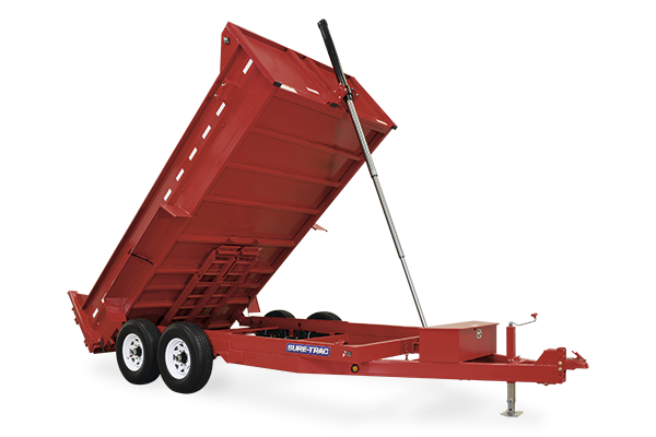 Hd Low Pro Dump Trailer By Sure Trac Tc Trailers